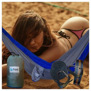 Gopoint Beach Hammock Blue and Grey
