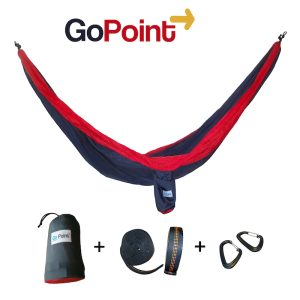 Gopoint Double Parachute Nylon Camping Hammock Red and Gray Gopoint US